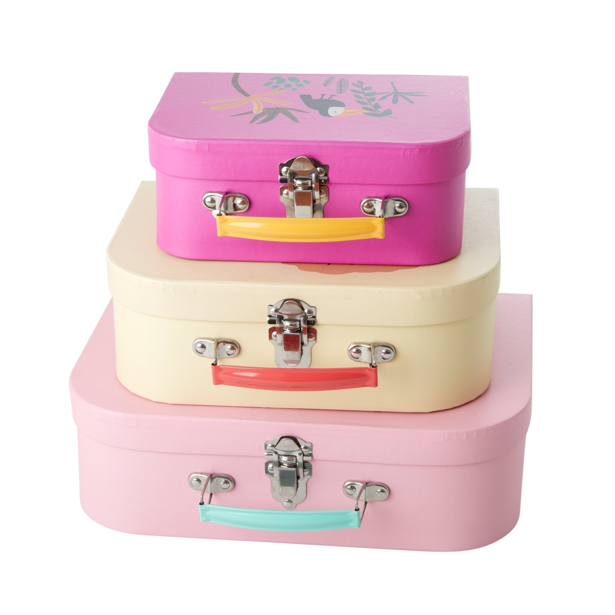 Rice <br/> Kinderkoffer Set 'Jungle Animals' <br/> Pink