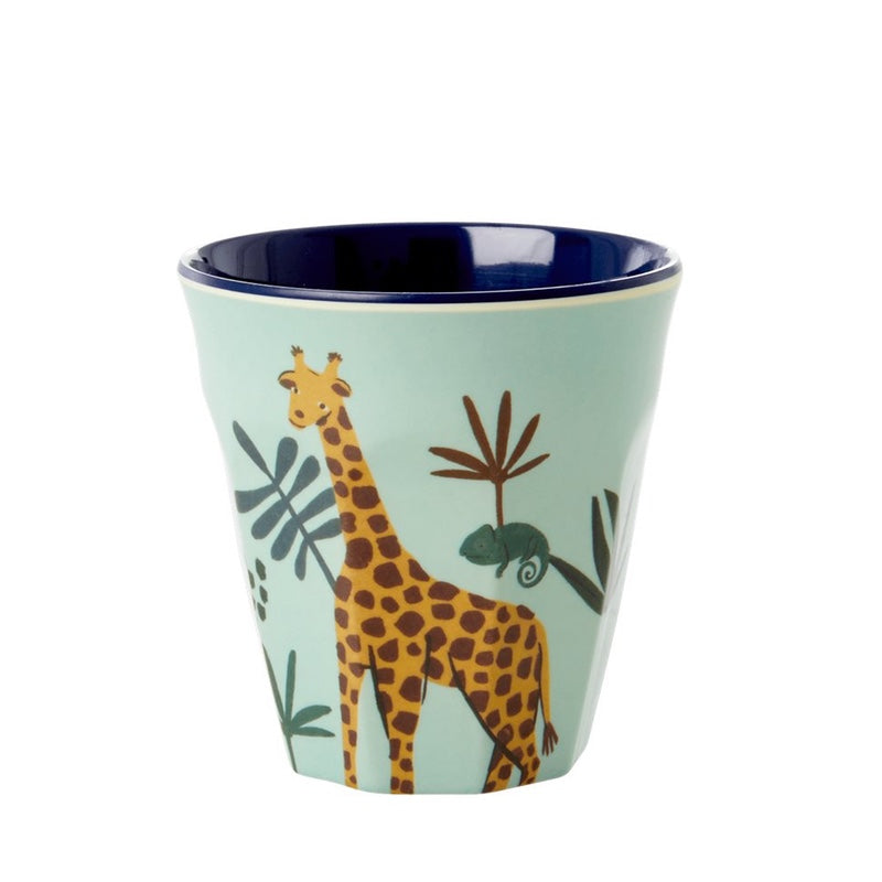 "Rice <br/> Melamin Kinder Becher ""Jungle Animals"" <br/> Green"