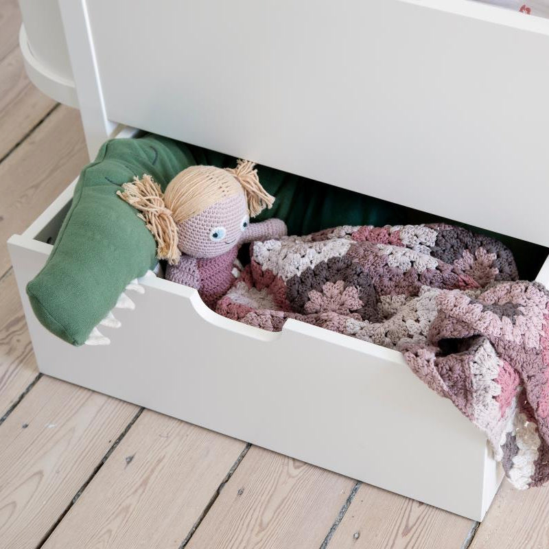 Sebra Bed drawer for baby and junior beds White