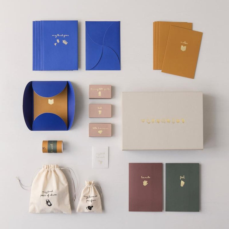 "Ferm Living <br/> Erinnerungsbox ""The beginning of my life"" <br/> Mix,Aufbewahrung, Ferm Living - SNOWFLAKE kindermöbel concept store"