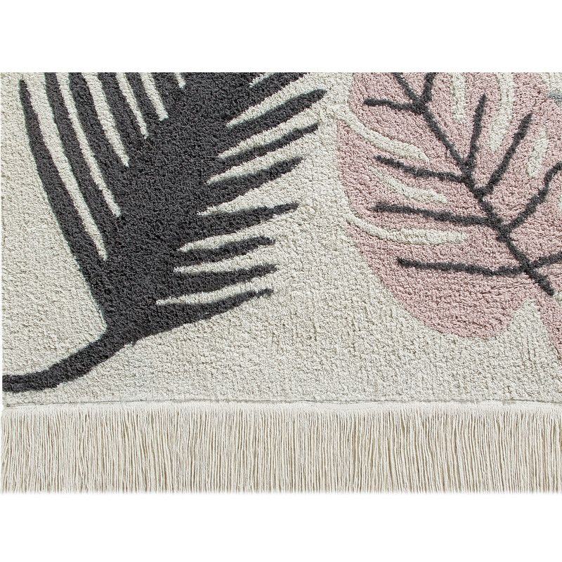 Lorena Canals Washable cotton rug Tropical Pink, carpets, Lorena Canals - SNOWFLAKE children's furniture concept store