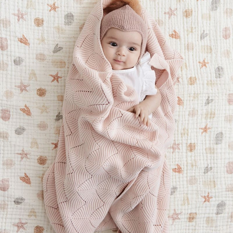 Cam Cam Cheesecloth Swaddle Seabed