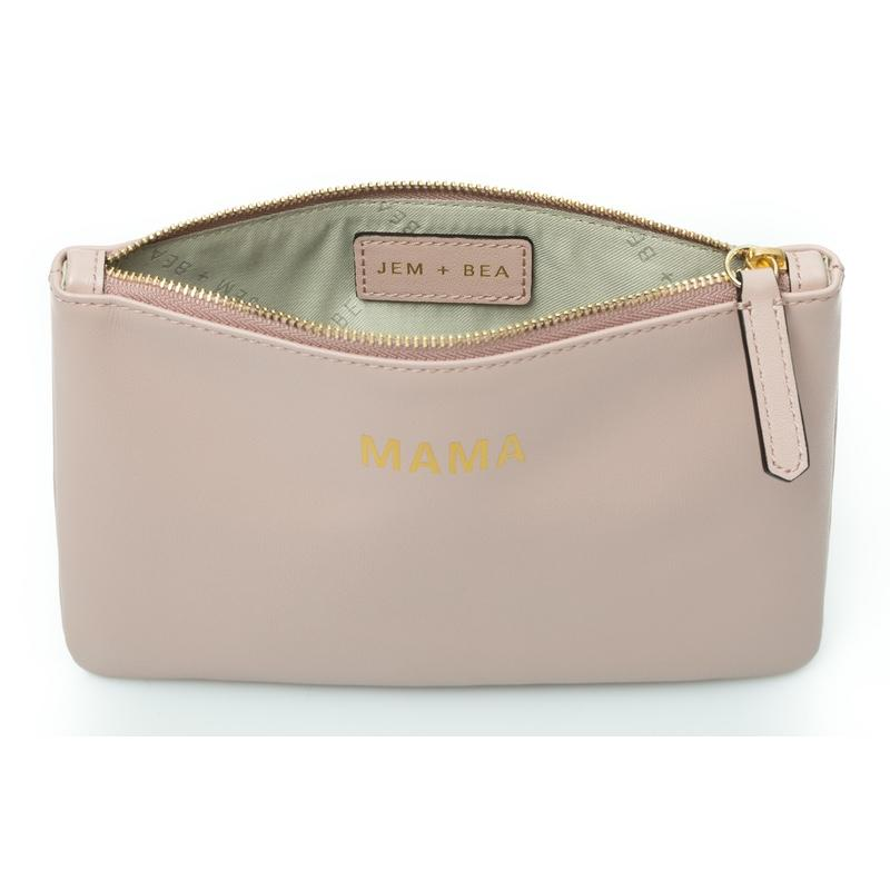 Jem + Bea Leather clutch / toiletry bag Mama Blush, bags, Jem + Bea - SNOWFLAKE children's furniture concept store