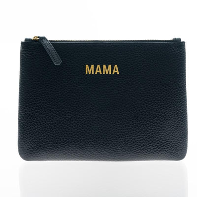 Jem + Bea Leather clutch / toiletry bag Mama Black, bags, Jem + Bea - SNOWFLAKE children's furniture concept store