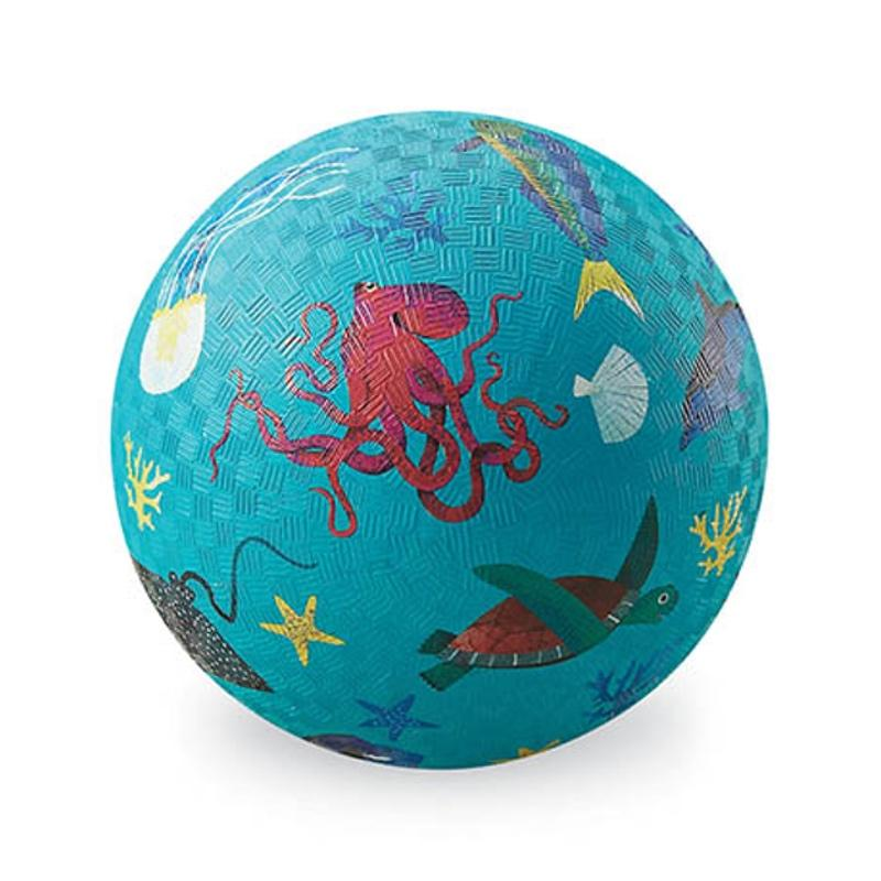 "Crocodile Creek <br/> Kinderball ""Sea Animals"" gross Ø 18 cm <br/> Hellblau"