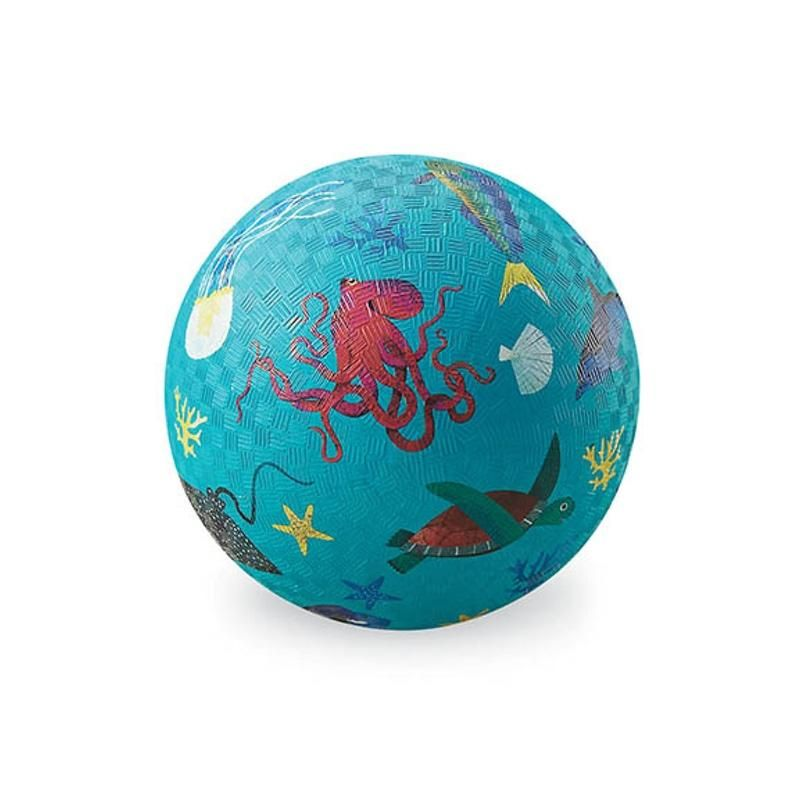 "Crocodile Creek <br/> Kinderball ""Sea Animals"" klein Ø 13 cm <br/> Hellblau"