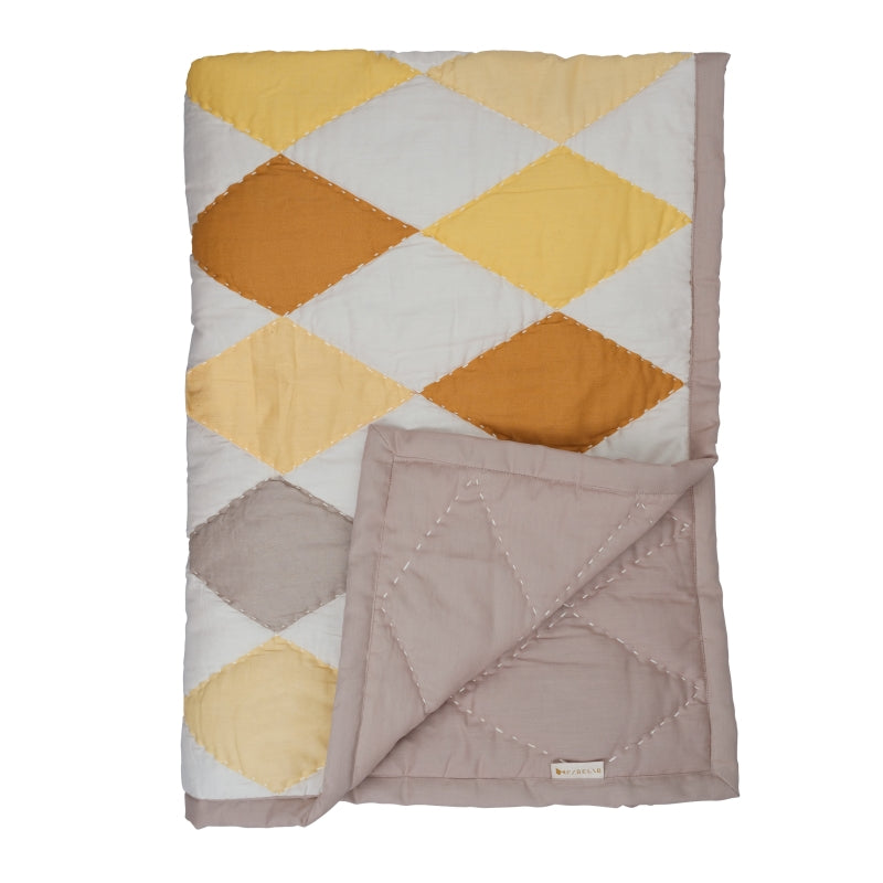 Fabelab <br/> Patchwork Tagesdecke Diamond <br/> Yellow Mix