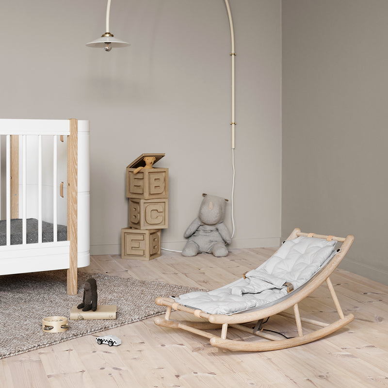 Oliver Furniture Wood baby and toddler bouncer Oak / gray