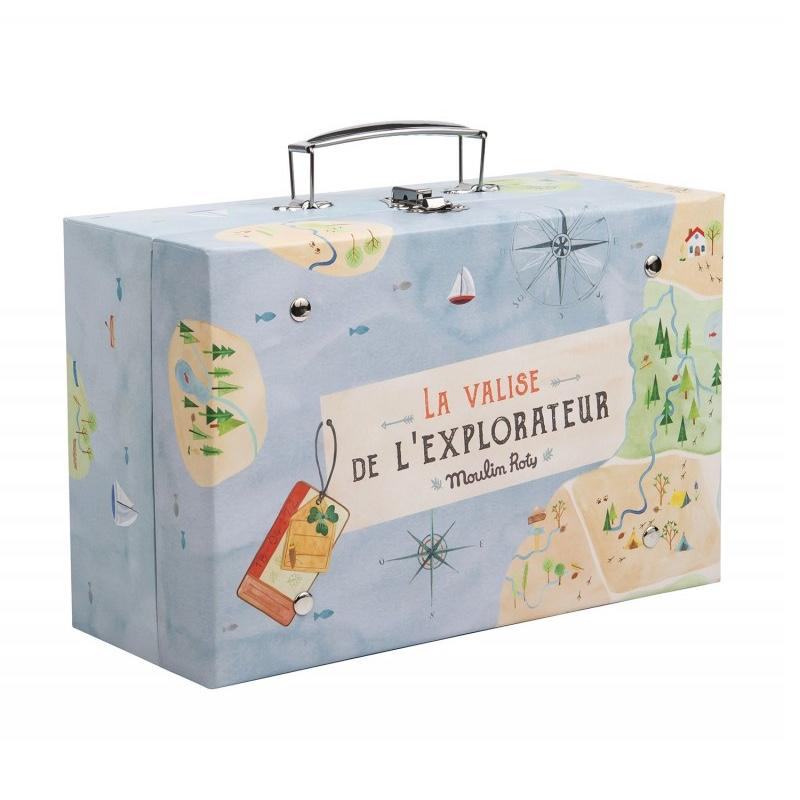Moulin Roty <br/> Kinder Explorer Koffer <br/> de L`explorateur