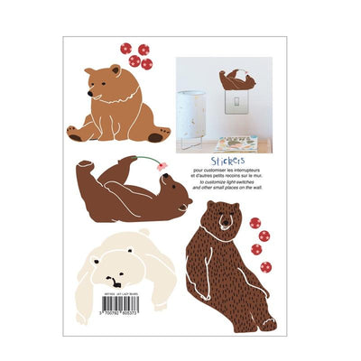 MIMI`lou Wall sticker bear light switch Colorful, wall stickers, MIMI'lou - SNOWFLAKE children's furniture concept store