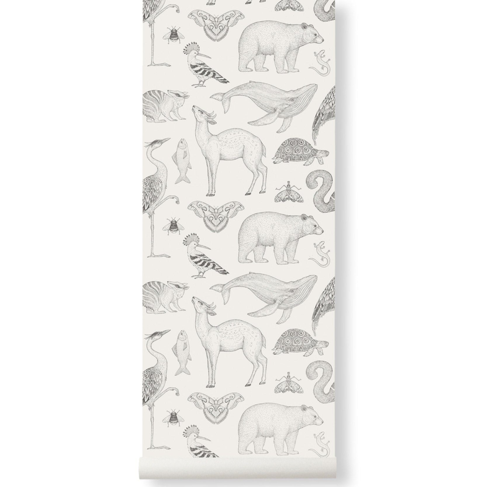 Ferm Living <br/> Katie Scott Tapete Animals <br/> Off White
