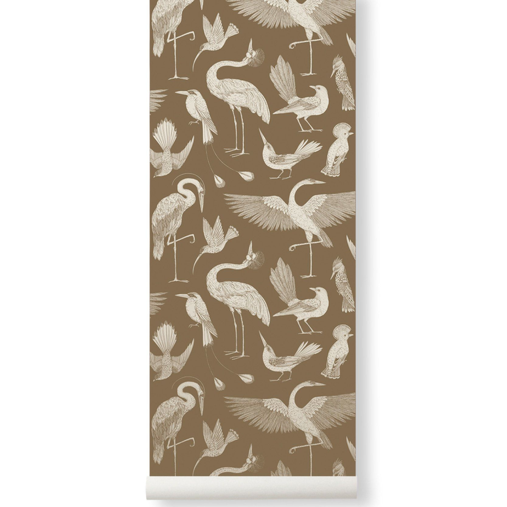 Ferm Living <br/> Katie Scott Tapete Birds <br/> Sugar Kelp
