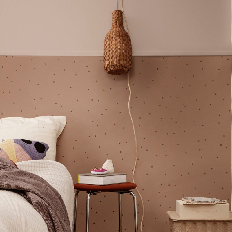 Ferm Living <br/> Gepunktete Tapete <br/> Dusty Rose