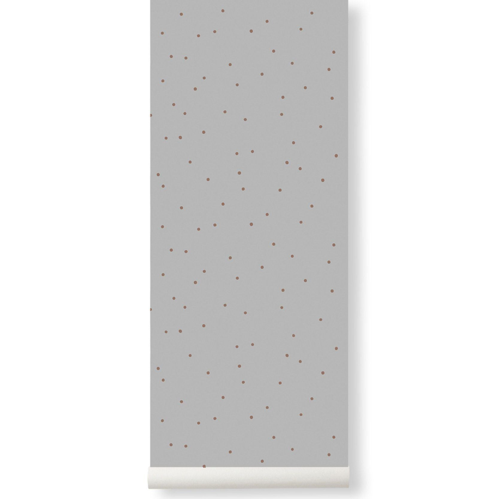Ferm Living <br/> Gepunktete Tapete <br/> Grey