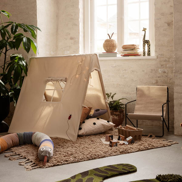 Ferm Living Tent with ladybugs Natural