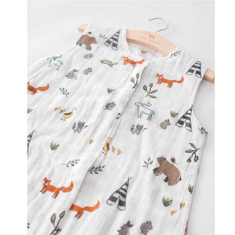 Little Unicorn <br/> Sommerschlafsack Cotton Muslin <br/> Forest Friends