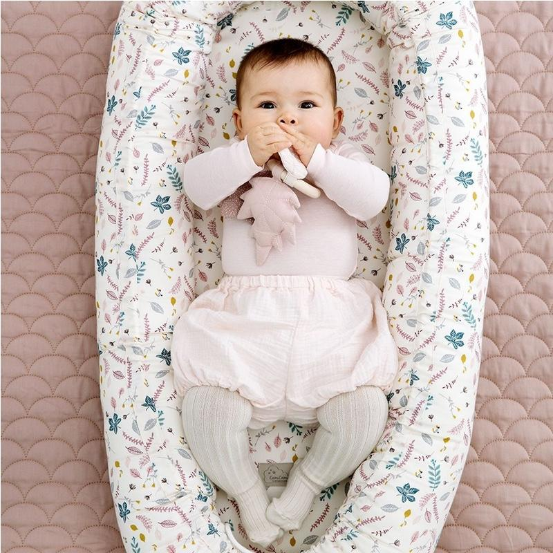 Cam Cam Baby nest Pressed Leaves Blush, baby beds, Cam Cam - SNOWFLAKE children's furniture concept store