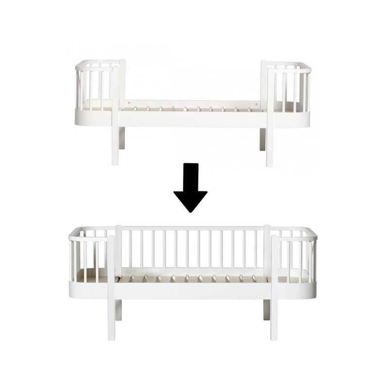 Oliver Furniture <br/> Umbauset Wood <br/> Juniorbett zum Junior Bettsofa <br/> Weiss
