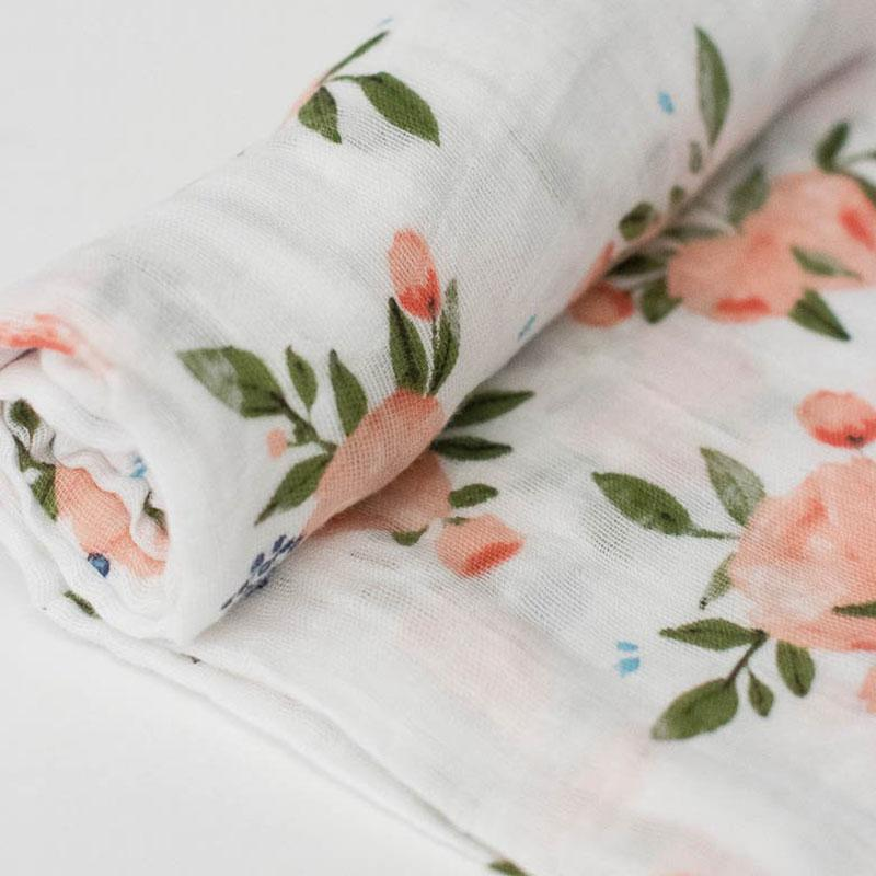 Little Unicorn <br/> Cotton Swaddle <br/> Watercolor Roses