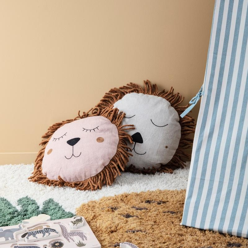 Ferm Living <br/> Safari Kissen Löwe <br/> Natural