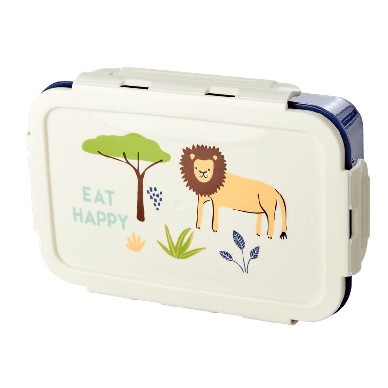 "Rice <br/> Kinder Lunchbox ""Jungle Animals"" <br/> Green"