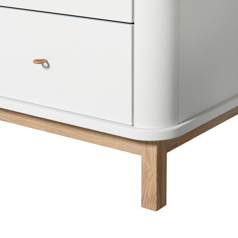 Oliver Furniture <br/> Kommode Wood mit 6 Schubladen<br/> Weiss/Eich,Kommoden, Oliver Furniture - SNOWFLAKE kindermöbel concept store