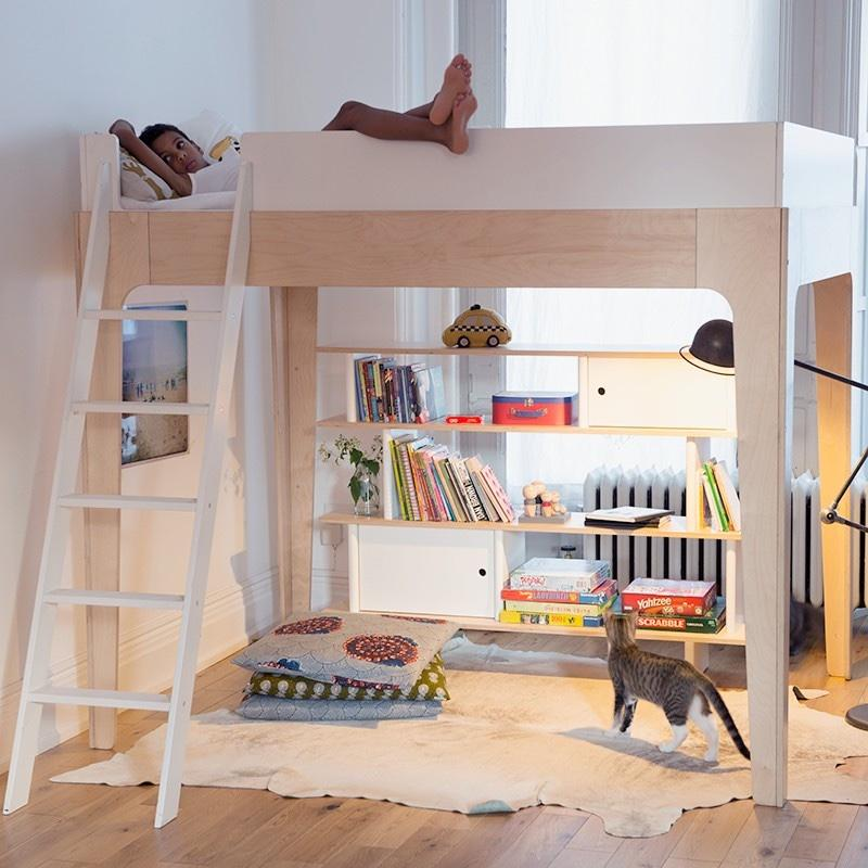 Oeuf NYC Perch loft bed Birch / white, loft beds, Oeuf NYC - SNOWFLAKE children's furniture concept store