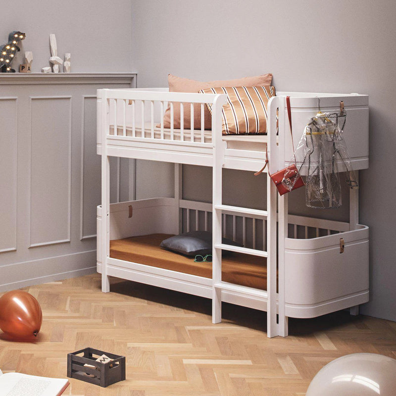 Oliver Furniture <br/> Wood Mini+ Halbhohes Etagenbett <br/> Weiss