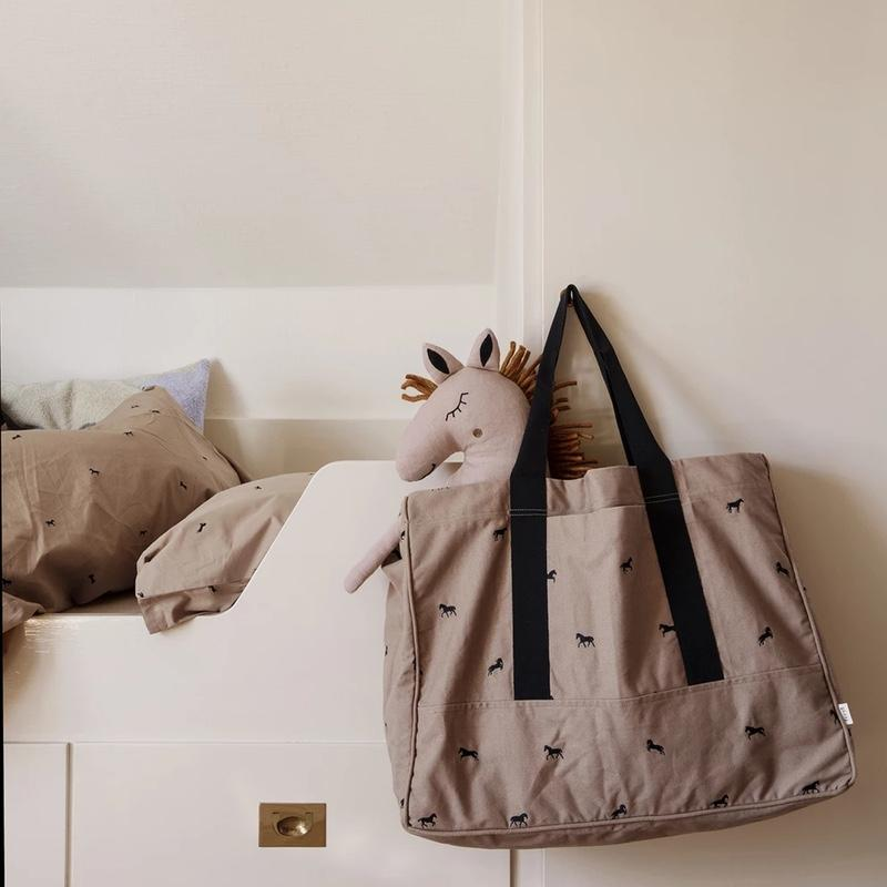 Ferm Living <br/> Safari Kissen Pferd <br/> Dusty Rose