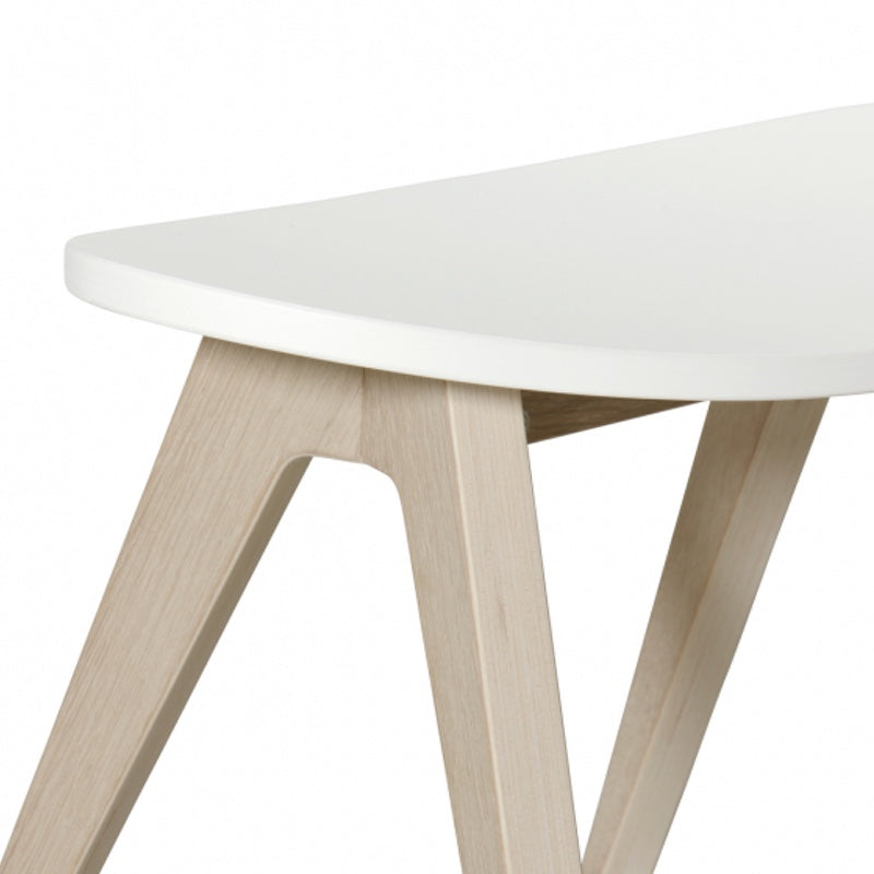 "Oliver Furniture <br/> Kinderhocker Wood ""PingPong"" <br/> Weiss/Eiche"