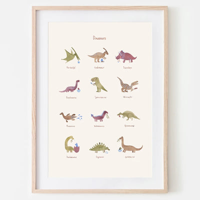 Mushie <br/> Poster 50 x 70 cm <br/> Dinosaurs