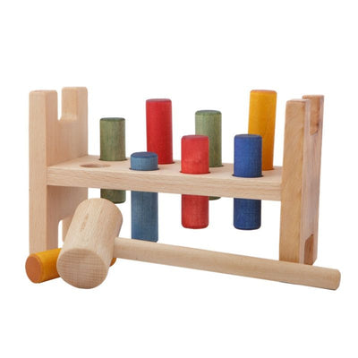 Wooden Story Hammer bank Nature / rainbow, wooden toys, Wooden Story - SNOWFLAKE children's furniture concept store