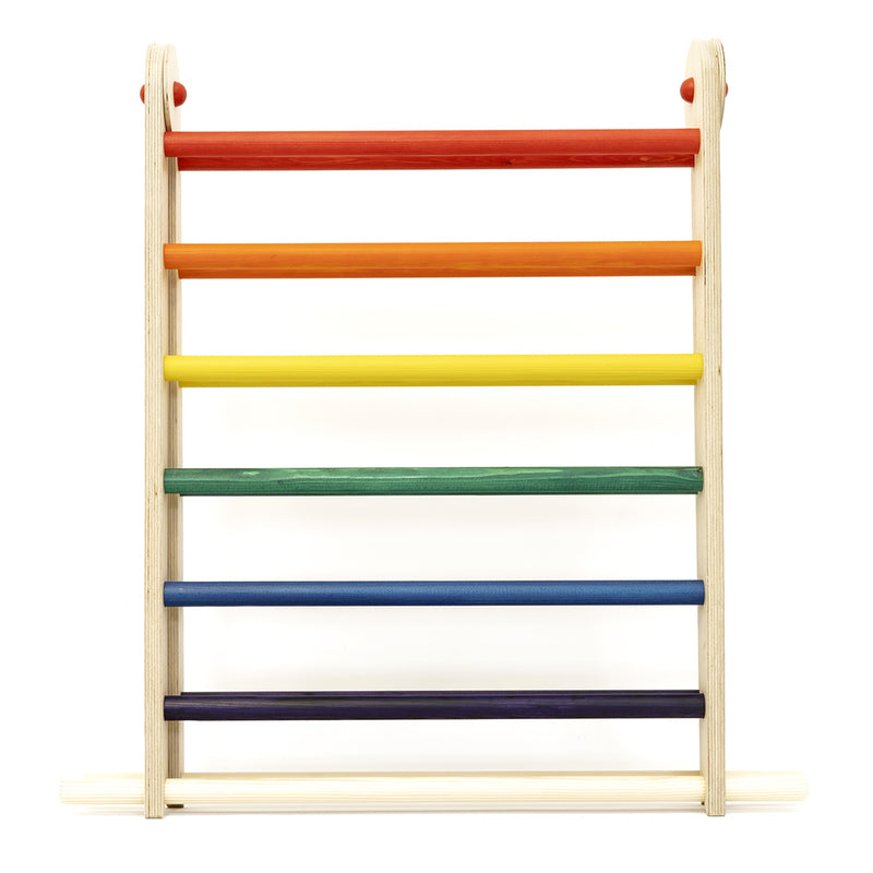 Triclimb Wooden Pikler triangle climbing frame Double rainbow