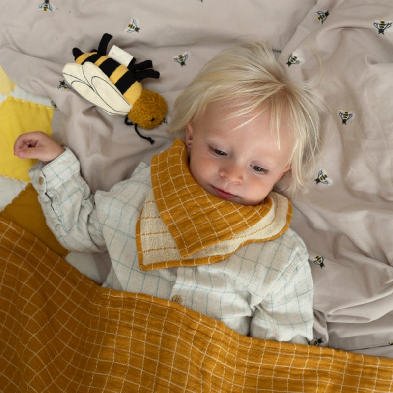 Fabelab Bee rattle Yellow gold