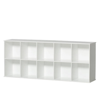 Oliver Furniture Wood stand shelf 5x2 compartments with base White