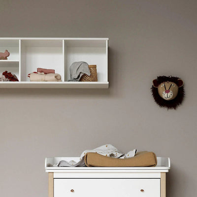 Oliver Furniture Wood wall shelf 3x1 compartments White
