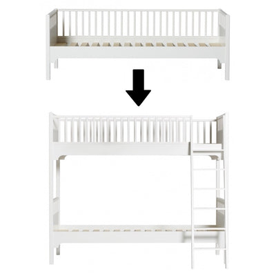 Oliver Furniture Seaside conversion set Sofa bed to bunk bed with sloping ladder White