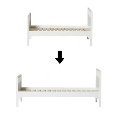 Oliver Furniture Conversion set Seaside Classic Junior single bed to single bed 90x200cm White