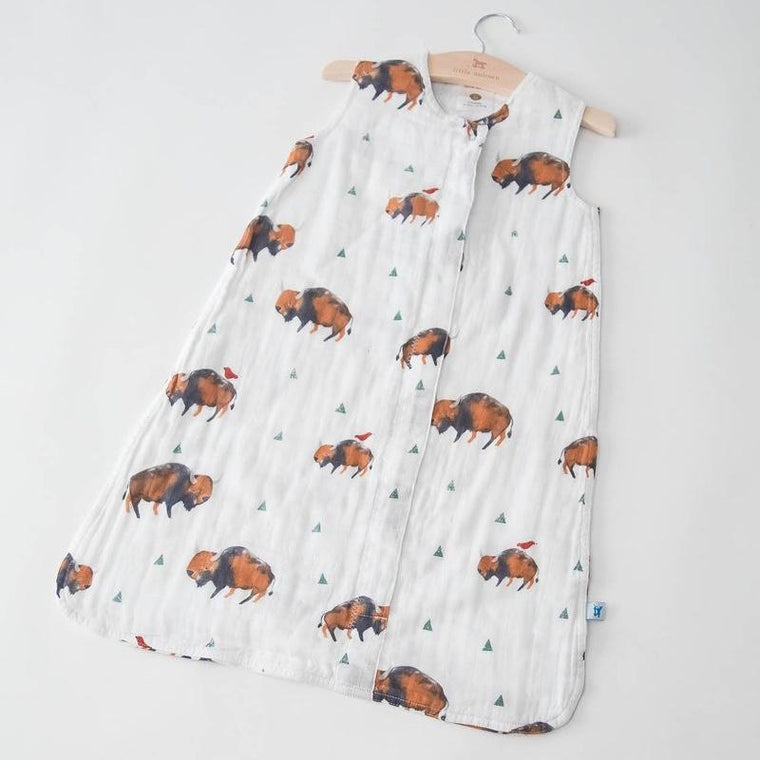 Little Unicorn <br/> Sommerschlafsack Cotton Muslin <br/> Bison