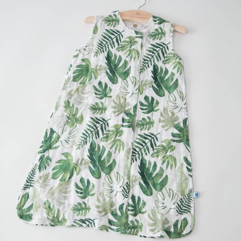 Little Unicorn <br/> Sommerschlafsack Cotton Muslin <br/> Tropical Leaf