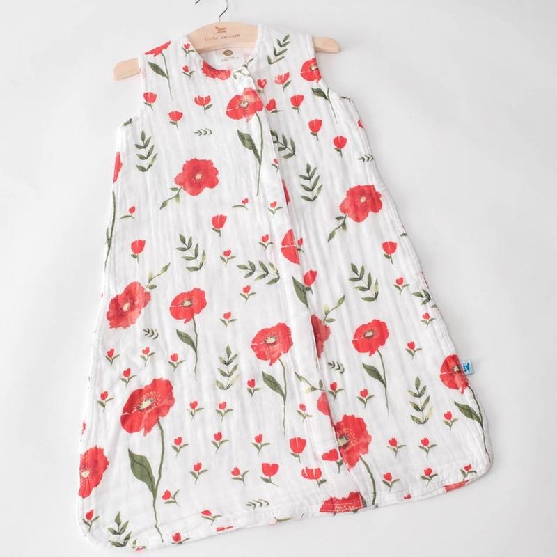 Little Unicorn <br/> Sommerschlafsack Cotton Muslin <br/> Summer Poppy