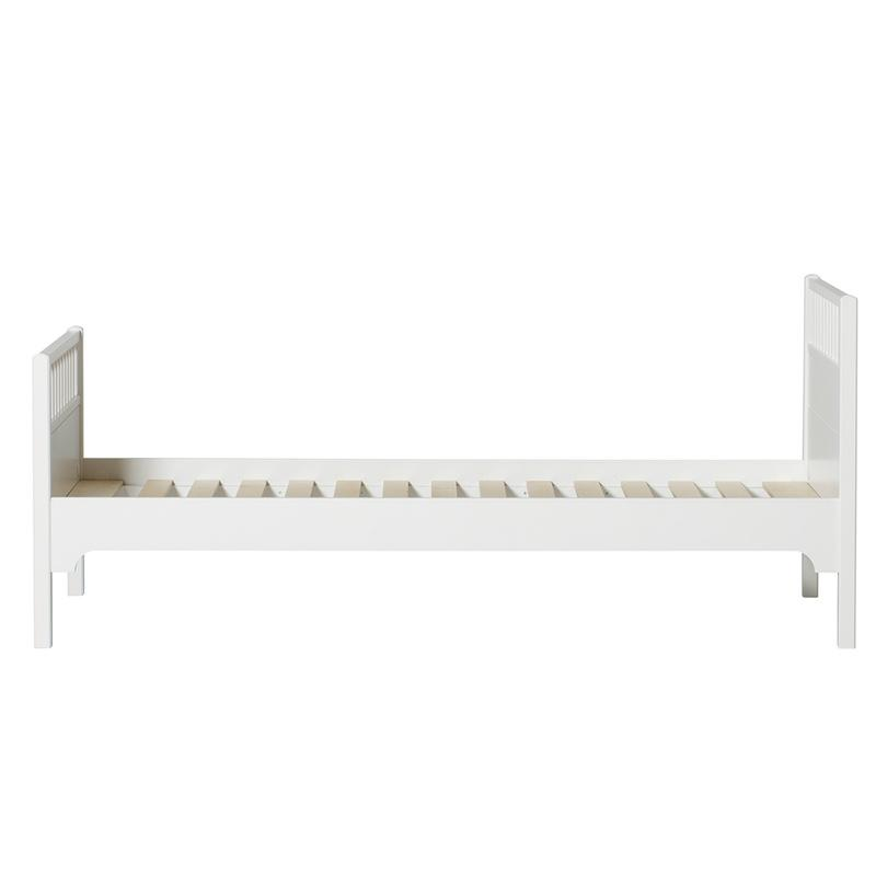 Oliver Furniture <br/> Einzelbett Seaside <br/> Weiss 90 x 200 cm