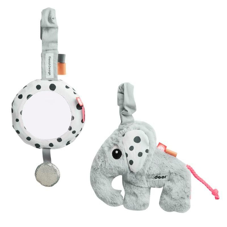 Done by Deer <br/> Babyspielzeug To Go Activity Set <br/> Grey