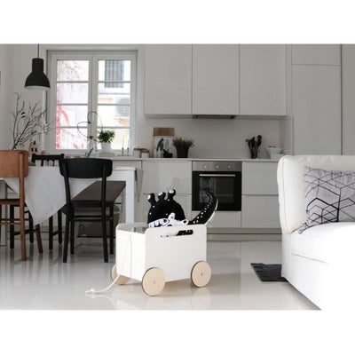 Ooh Noo Wooden toy box White / nature, toys, Ooh Noo - SNOWFLAKE children's furniture concept store