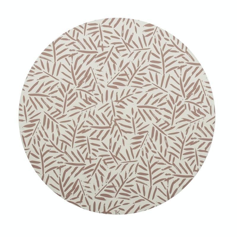 "Toddlekind <br/> Bodenmatte Clean Wean Mat ""Ocean Leaves"" <br/> Sea Shell"