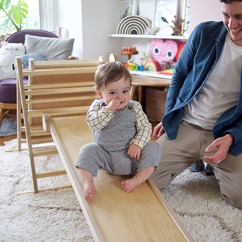 Triclimb Wooden Pikler triangle climbing frame Natural
