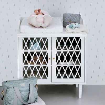 Cam Cam Harlequin changing table White, changing tables, Cam Cam - SNOWFLAKE children's furniture concept store