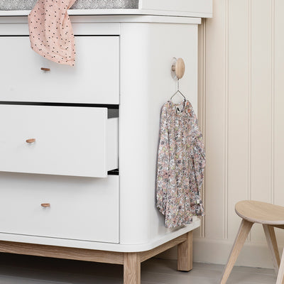 Oliver Furniture Wood changing table 6 drawers with small changing table White / oak