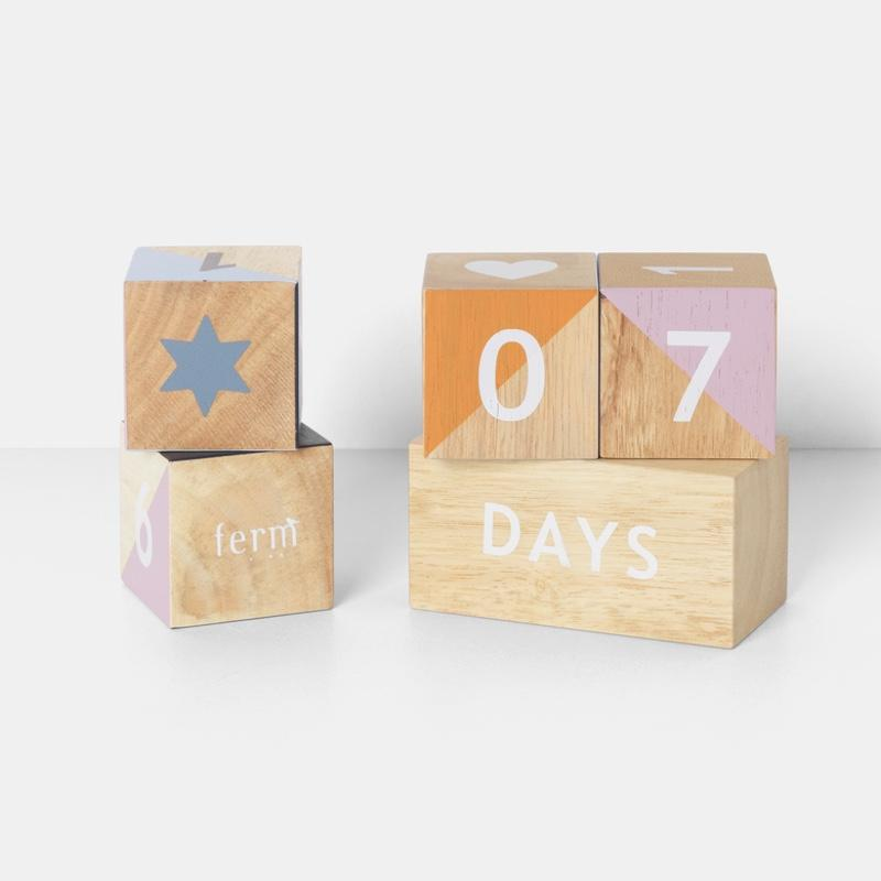 Ferm Living <br/> Wooden Age Blocks <br/> Multi