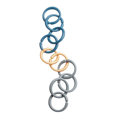 Done by Deer Plastic ring set Dark Blue, baby toys, Done by Deer - SNOWFLAKE children's furniture concept store